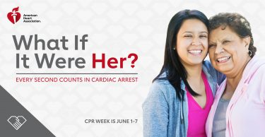 Graphic of two women for CPR Week