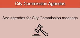 City Commission Agendas Button Black
