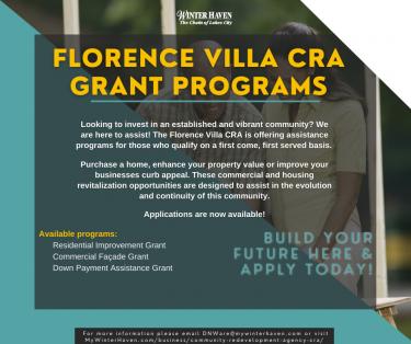 Florence Villa CRA Grant Programs