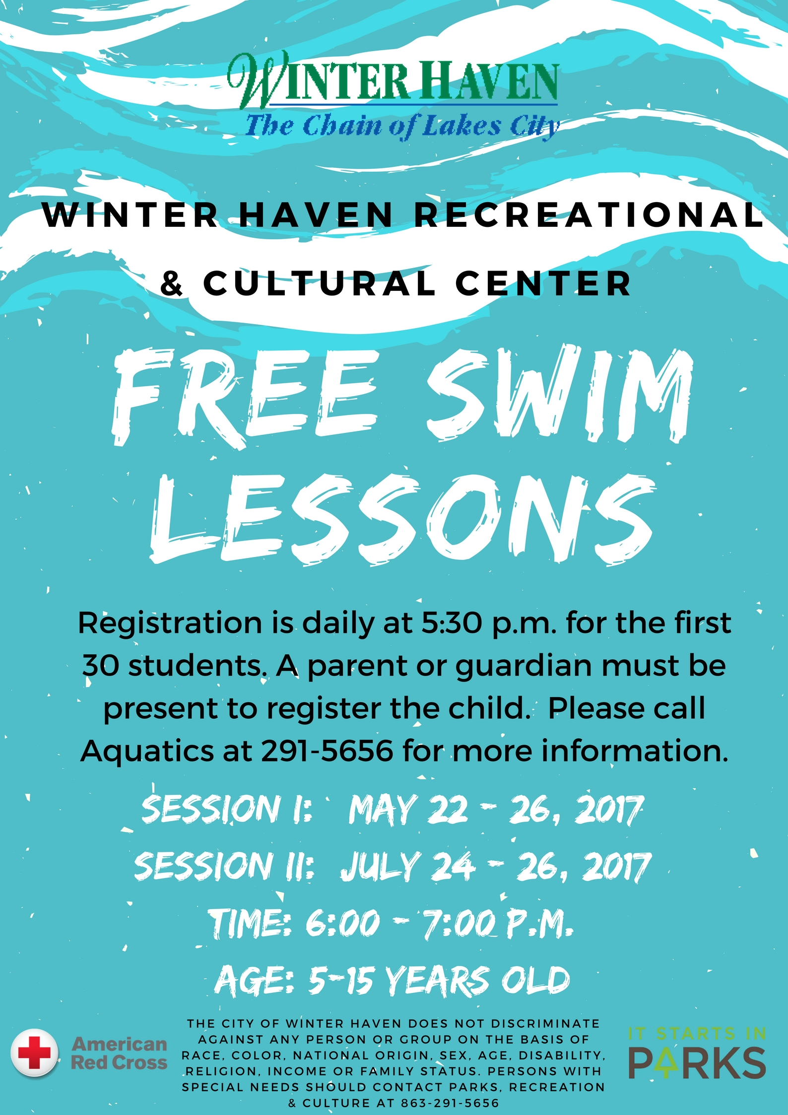 Aquatics city of winter haven - Pools on the park swimming lessons ...