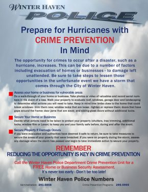 Hurricane Preparedness Flier