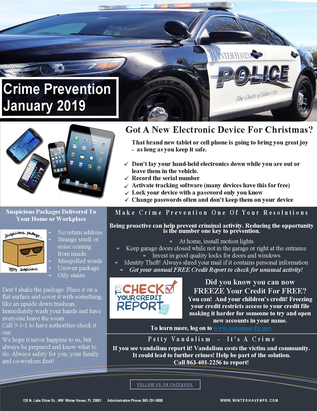 2019 Crime Prevention Newsletters | City of Winter Haven