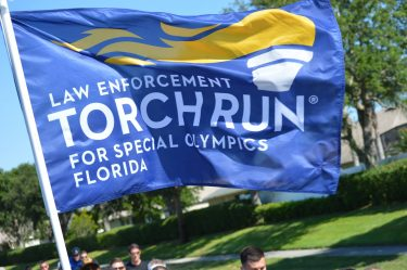 Law Enforcement Torch Run Blue Flag