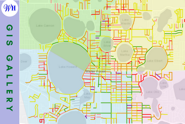 Clickable image linking to a web map application depicting the City's Pavement inventory and prioritization.