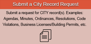 Submit a City Record Request Button