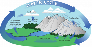 Image depicting the water cycle.