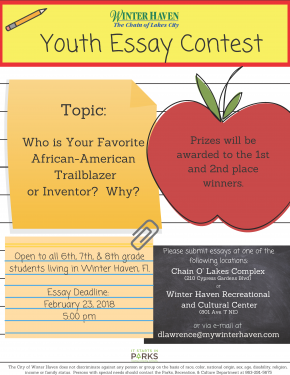 Youth Essay Contest In Celebration Of Black History Month Community Youth Are Invited To Share  Their Thoughts On His Or Her Favorite Africanamerican Trailblazer Writers For Hire also Writing Services Company Reviews  High School Memories Essay