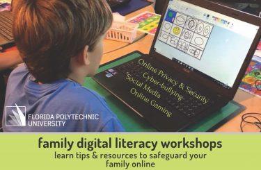 Family Digital Literacy Workshop flyer