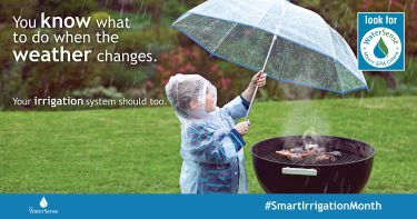 You know what to do when the weather changes: Your Irrigation system should too. Look for the water sense label